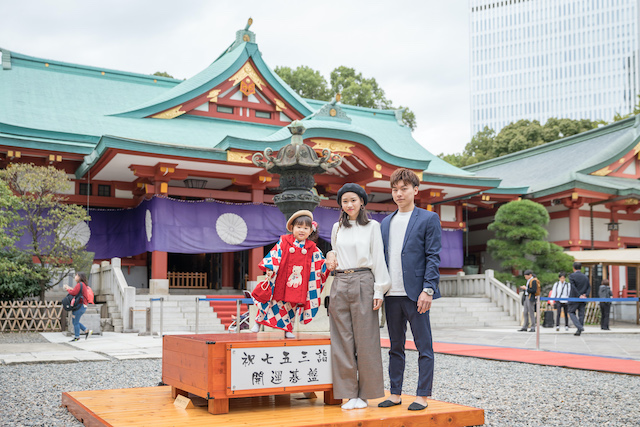 七五三 出張撮影 東京 千代田区 日枝神社 家族写真 こども