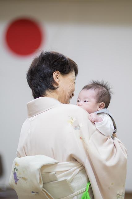 千葉県、柏神社、お宮参り、家族写真