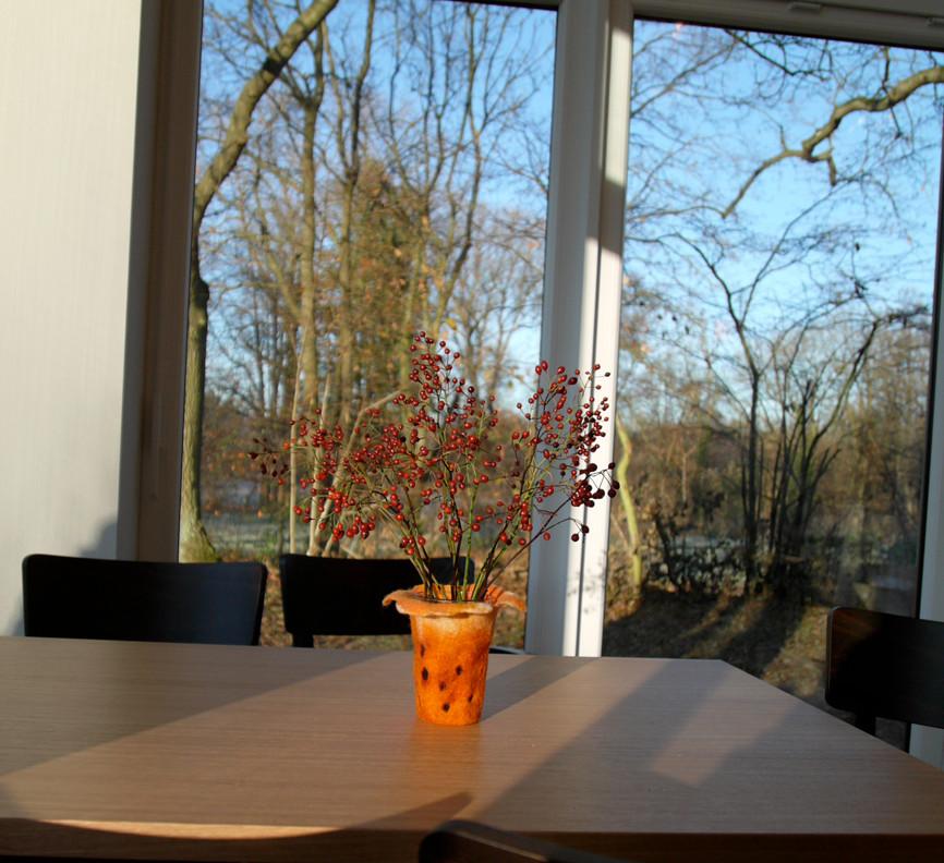 ... und hatte Zeit, mir anzuschauen, wie schön das Café schon eingerichtet ist.