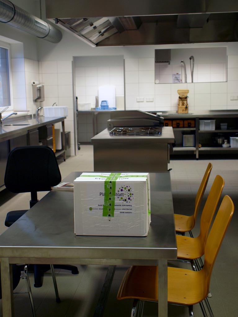 Zuerst war ich noch ganz allein in der neuen Küchenwerkstatt...