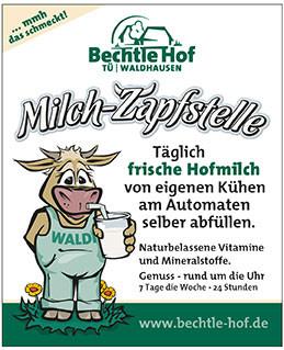 Flyer der Milch-Zapfzelle Bechtle Hof