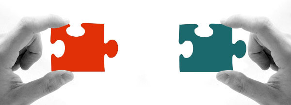 Wir bringen Unternehmen und Bewerber zusammen. Bild Puzzle.