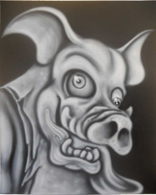 By Air Brush on Canvas bord. 41cm x 51cm