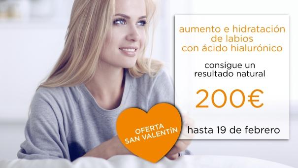 oferta san valentin dia de los enamorados aumento de labios relleno de labios
