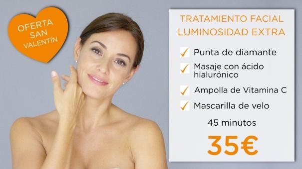 oferta san valentin dia de los enamorados tratamiento facial punta de diamante ácido hialurónico