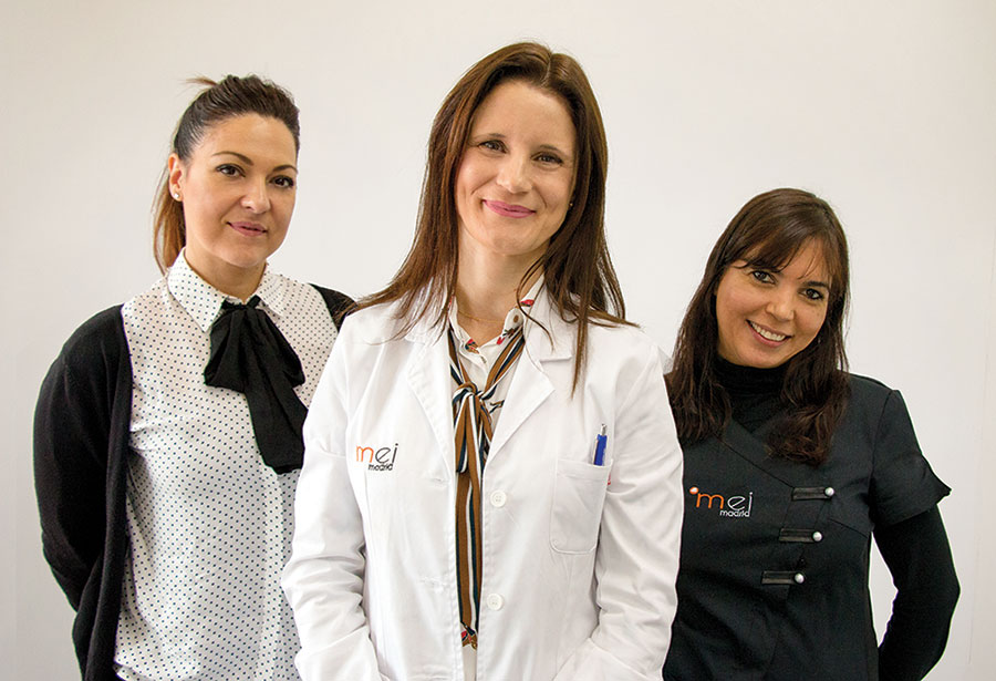 Equipo de la clínica de medicina estética Mei Madrid