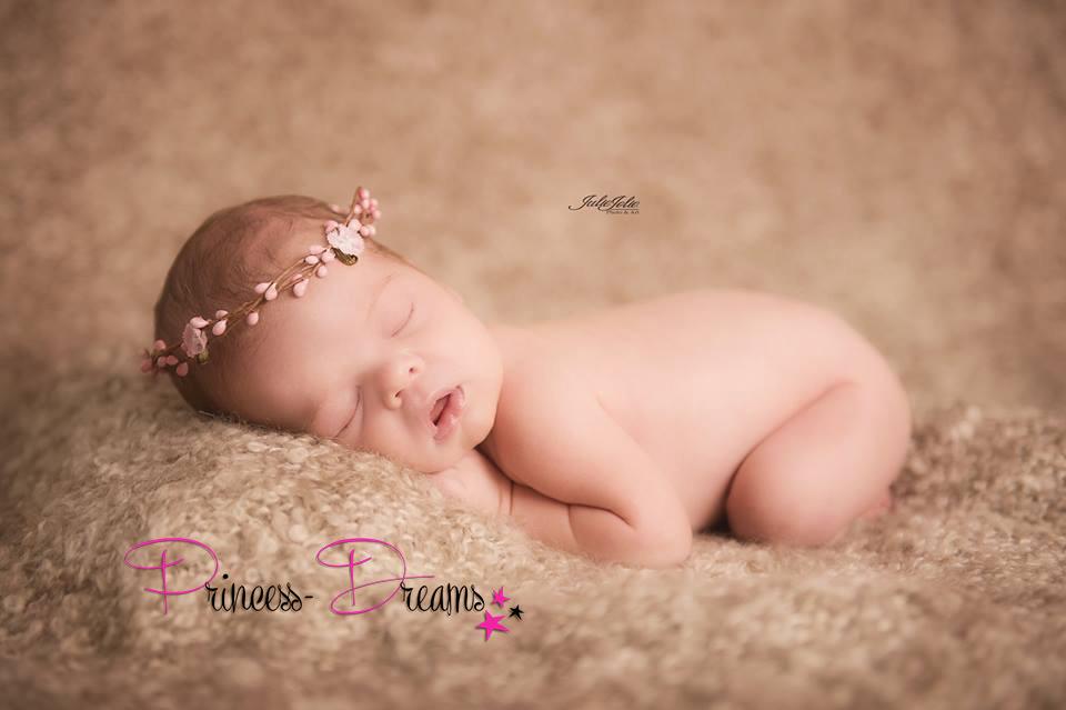 Blumenkranz für Neugeborenen, Baby Mädchen Kranz Haarkranz,Blumenkranz Blumenschmuck, Taufe Hochzeit