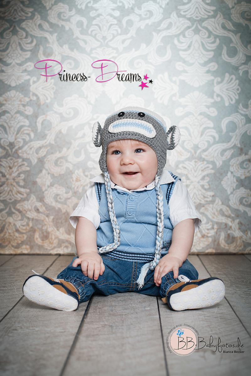 Sitter Jungen Outfit Strick Mütze Baby Outfit für Fotografie Babyshooting täglichen Gebrauch