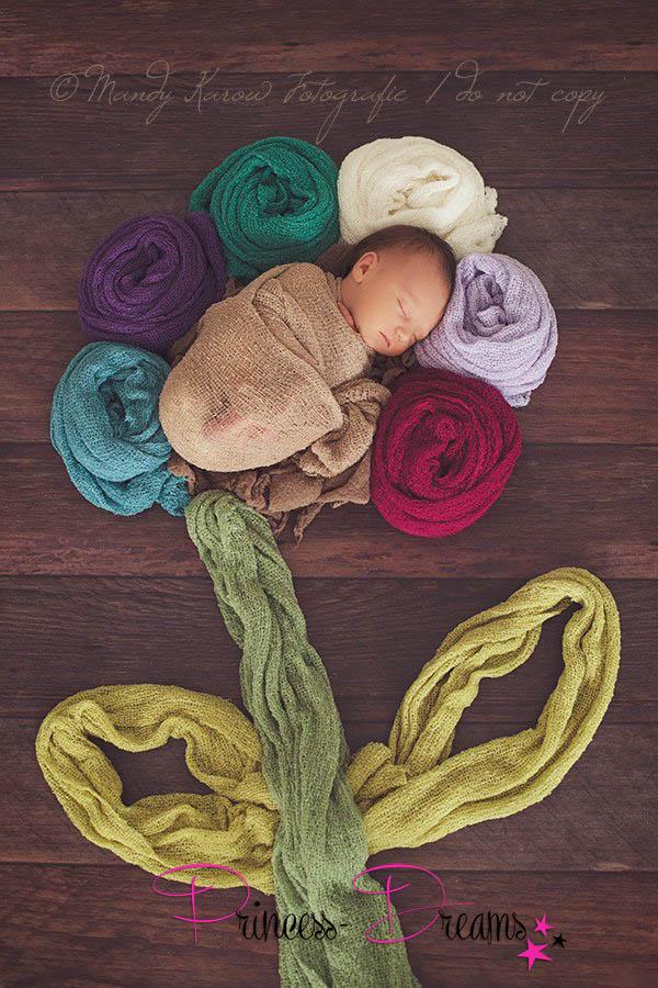 Stretch Wrap für Neugeborene Babies - Erdtöne -, Fotographie Prop für Newborn Fotoshootings, baby stretch wrap