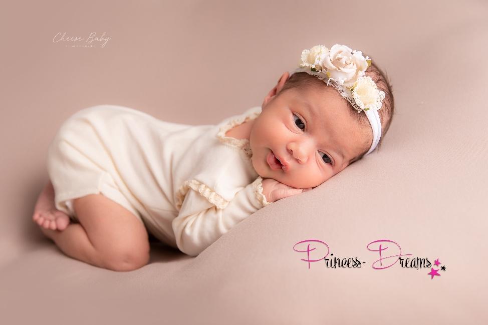 Natural Neugeborenen Mädchen Outfit Rüschen Body Romper Vintage HaarbandBaby Outfit für Fotografie Babyshooting