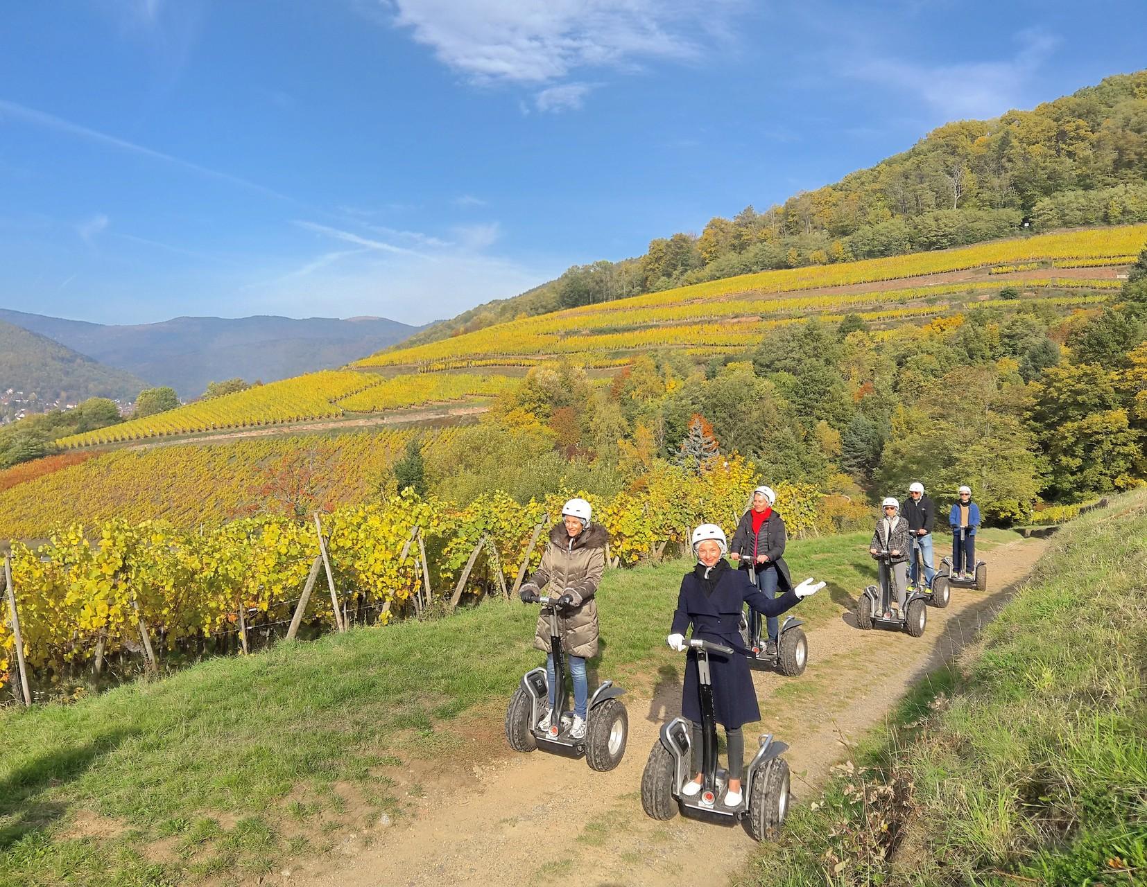 FUN MOVING GYROPODE SEGWAY EN ALSACE - oenotourisme, vignoble d'Alsace, Schlumberger