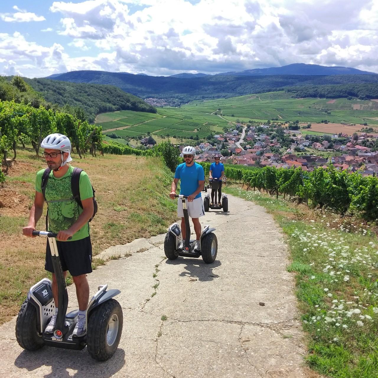 FUN MOVING GYROPODE SEGWAY EN ALSACE  - oenotourisme, vignoble d'Alsace, Westhalten