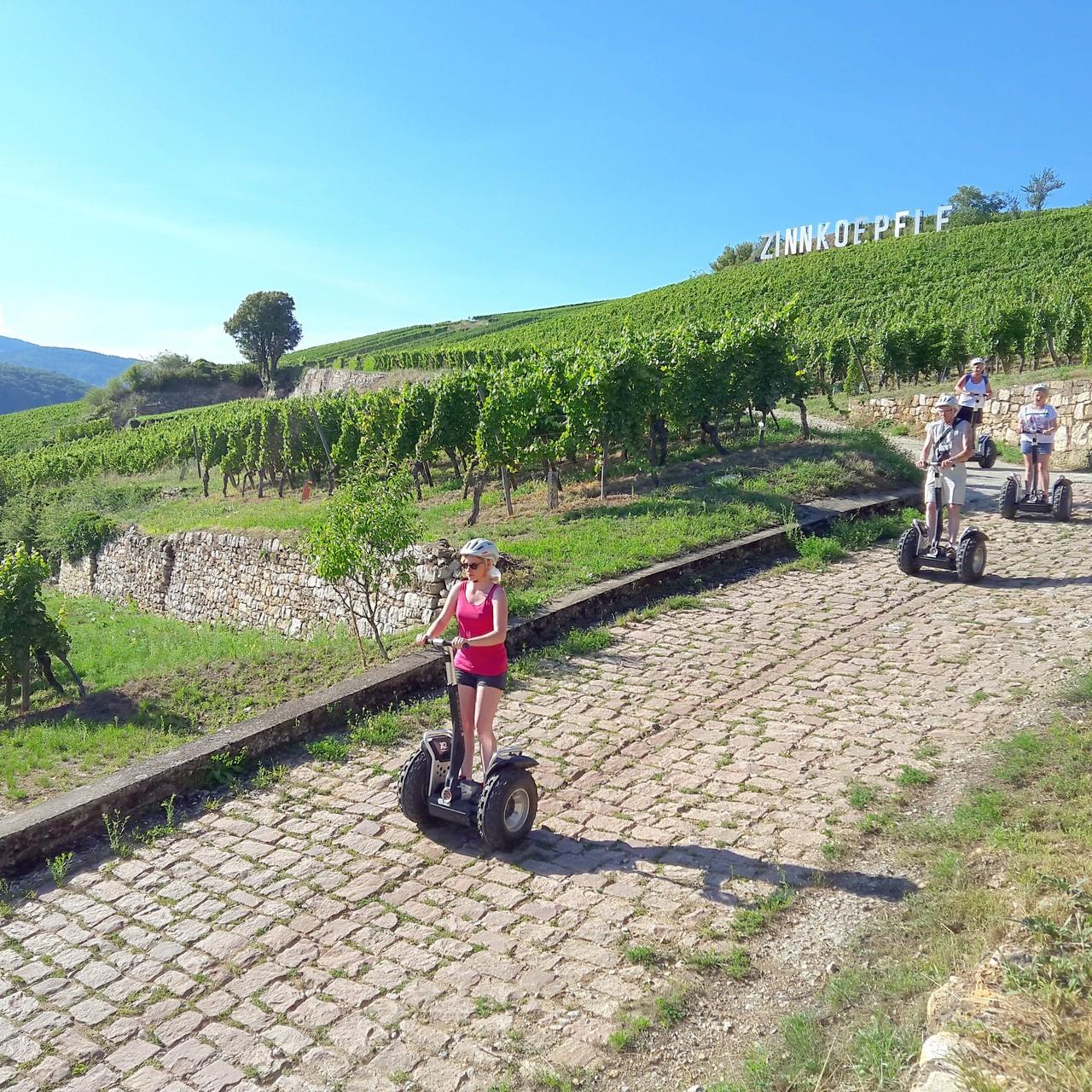 FUN MOVING GYROPODE SEGWAY EN ALSACE - oenotourisme, vignoble d'Alsace