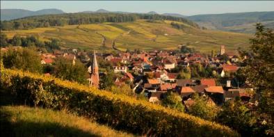 village d'Orschwihr sur la route des vins d'Alsace
