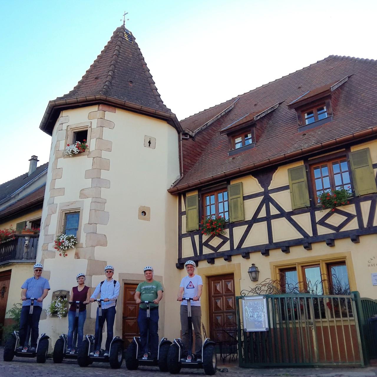 FUN MOVING GYROPODE SEGWAY EN ALSACE - oenotourisme, cave Materne Haegelin et filles, Orschwihr