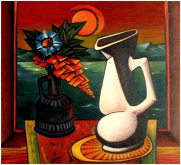 Stillleben mit weißer Vase  1979    82 x 75