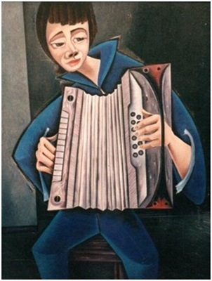 Akkordeon Spieler