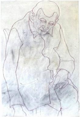 Herr Kuschbert  1948  35 x 51 ( Sepia Tinte )