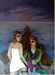 Gespräch an der Buhne  2006  90 x 120