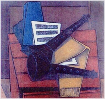 Stillleben mit Musikinstrumenten  1958    79 x 74