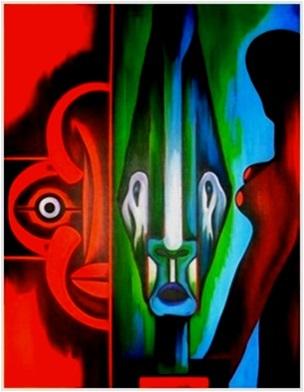 Masken  1971    76 x 102