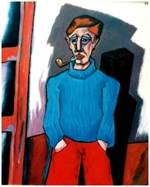 Mann mit Pfeife  2005  75 x 100