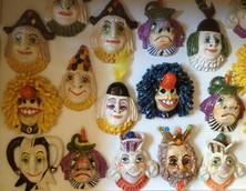 Wandköpfe, Fasnachtsmotive, Keramik Fasnachtsfiguren