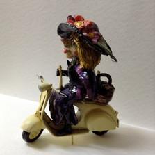 Fasnachtsfiguren, Vespa, Gritte, Keramik