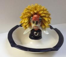 Aschenbecher, Fasnachtsfigur, Waggis, Keramik
