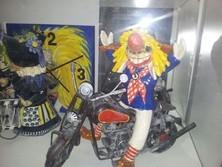 Fasnachtsfiguren, Waggis, Motorrad, Kermik