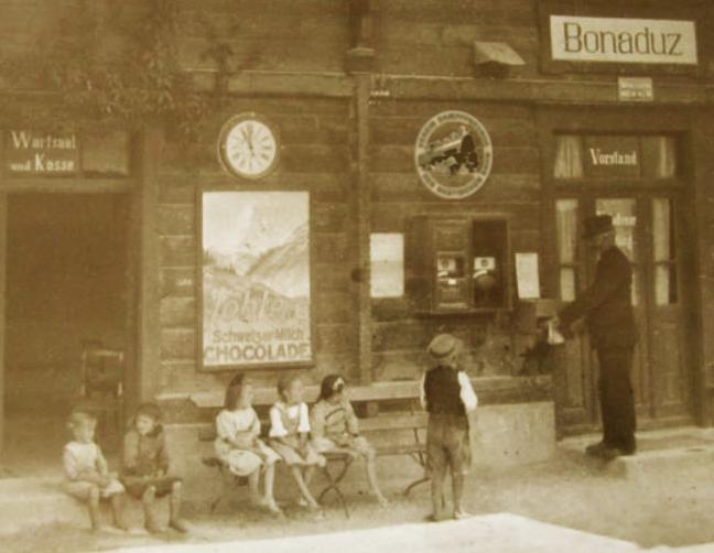 Der Bahnhof Bonaduz in vergangener Zeit