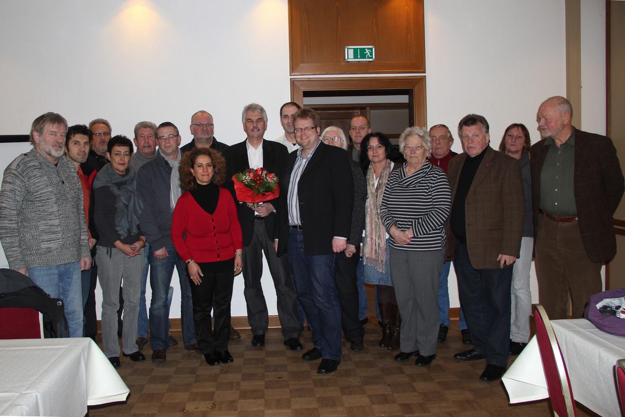 Der Vorstand des KV mit Holger Ansmann und fleißige Wahlhelfer