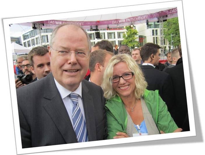 Unser Sabine mit Peer Steinbrück