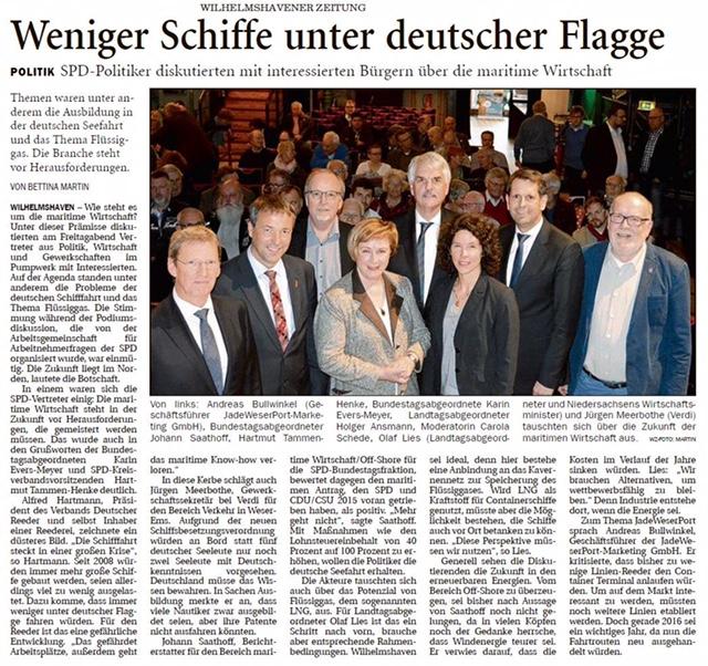 Quelle: Wilhelmshavener Zeitung