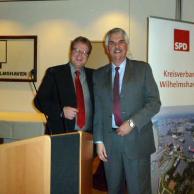 Volker Block (Vors. KV Wilhelmshaven) und Holger Ansmann (MdL)