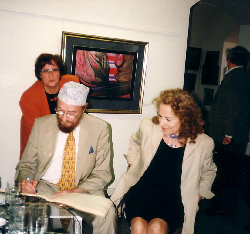 Ernst Fuchs und Ulla Höpken