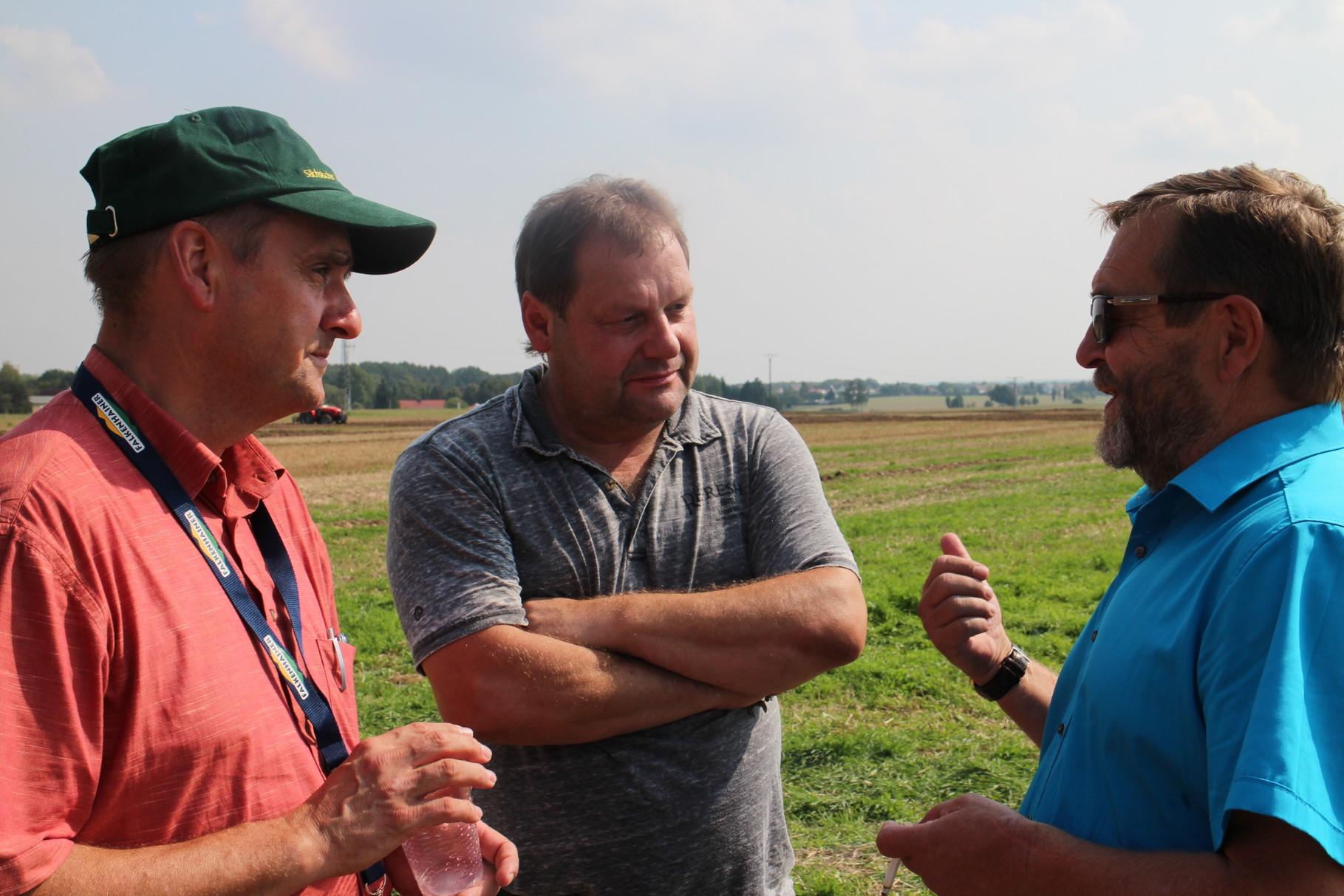 Bauernpräsident Wolfgang Vogel im Gespräch