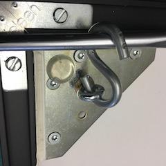 Bildaufhänger Depotschiebewand mit Ringschraube