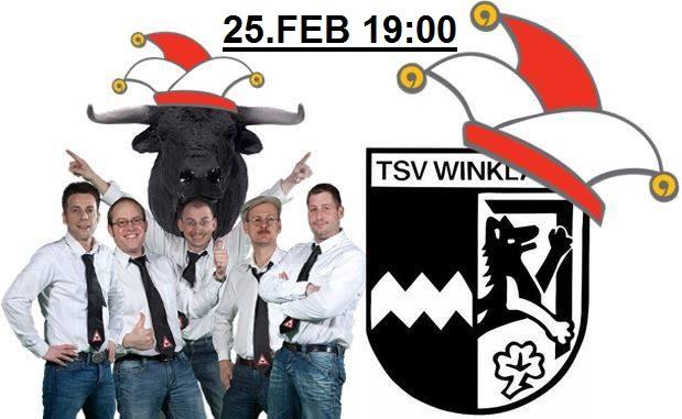 """Sportlerball des TSV Winklarn am 25.02.2017 im Pfarrsaal Winklarn mit der Stimmungsband """"Die Ochsen"""""""