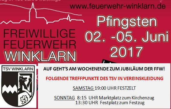 DER TSV WINKLARN BETEILIGT SICH AM FEST DER FFW WINKLARN