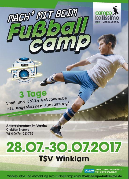 Mach mit und erleb ein unvergessliches Trainingswochenede unter der Leitung eines ehemaligen Fußballprofis! Der TSV Winklarn freut sich über deine Teilnahme...