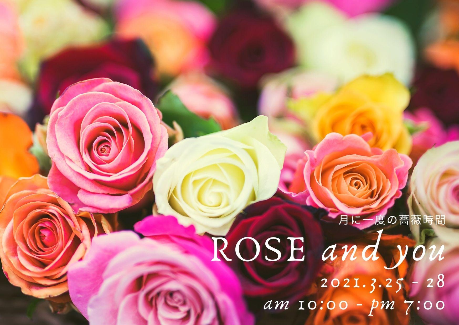 3月25日,26日,27日,28日/ROSE and you