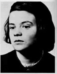 Sophie Scholl, geboren am 9. Mai 1921 in Forchtenberg am Kocher