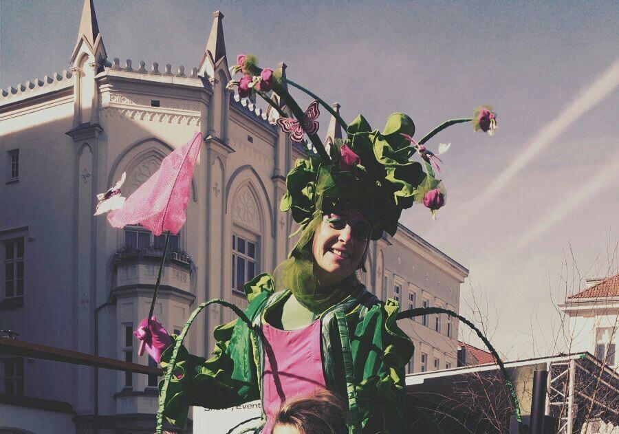 Florentina auf dem Oster und Blumenmarkt Greifswald