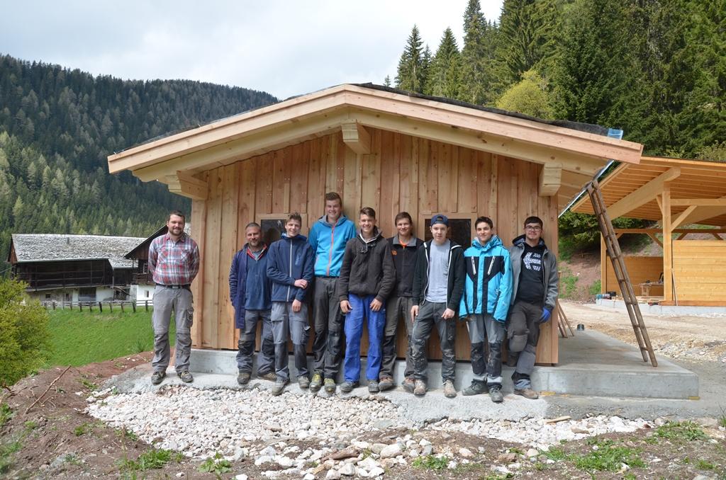 Bienenstock, von der Berufsschule Bruneck errichtet
