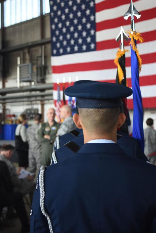 Täter mit US-Flagge