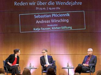Katja Fausser, Körber-Stiftung, im Gespräch mit Andreas Wirsching und Sebastian Płóciennik