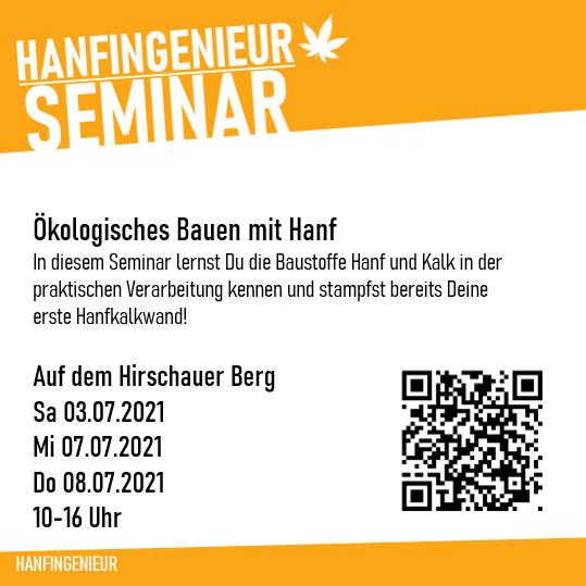 SEMINAR | Hirschau | Praxis: Bauen mit Hanf