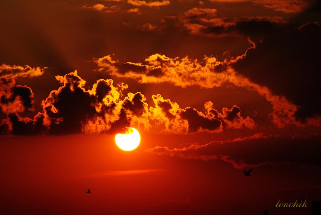 закат (фото с окна)