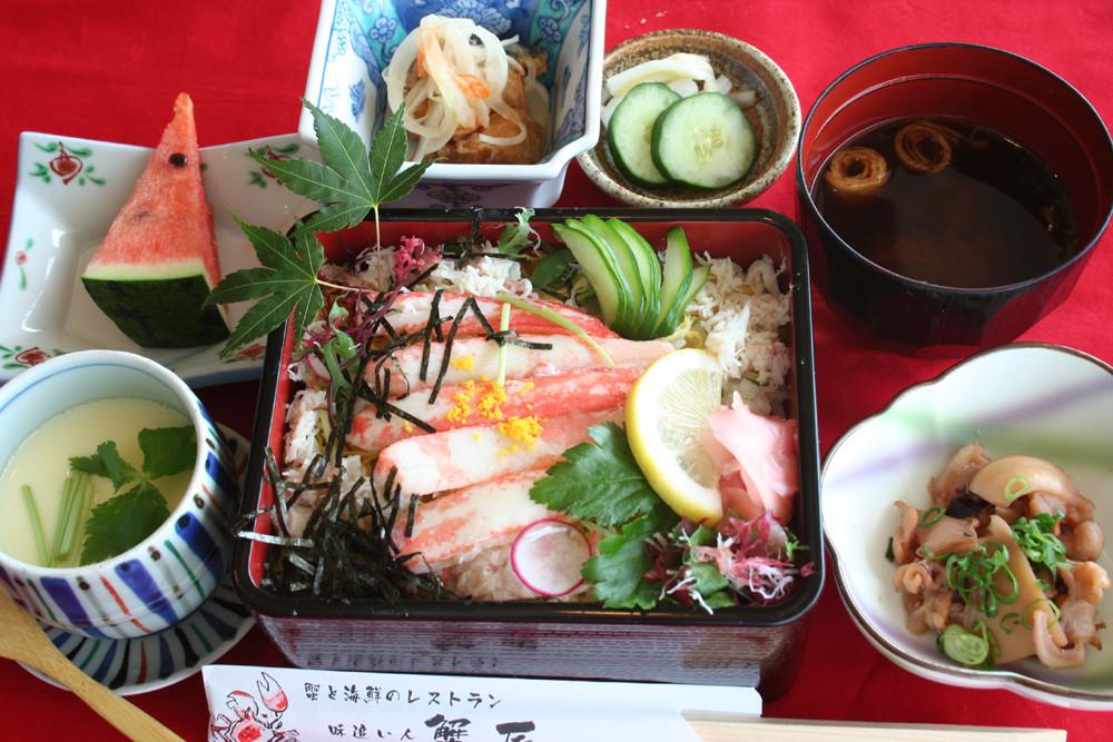 蟹ちらし寿司定食